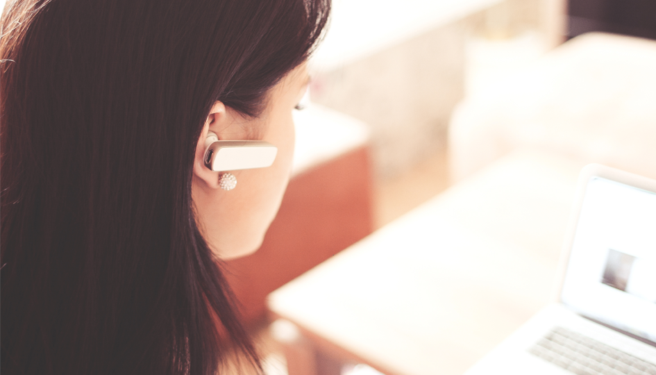 Woman talking on bluetooth | Third Party Administrator TPA | Benefits by Design