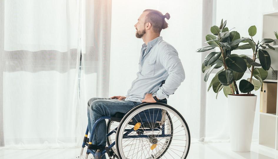 Man in a wheelchair | HCSA | Benefits by Design