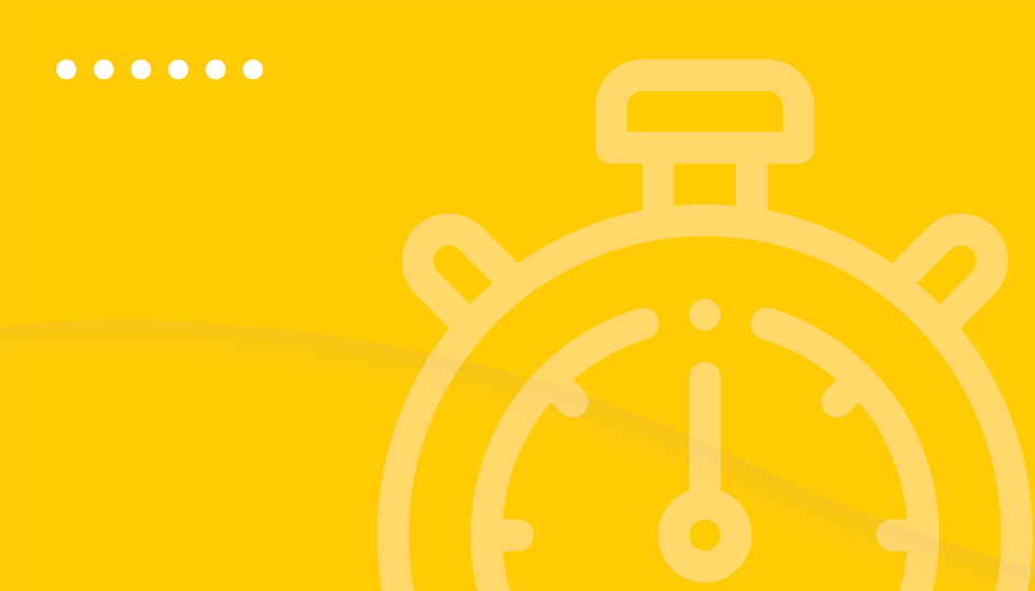 Clock on yellow background | Wait Times Canada | Benefits by Design