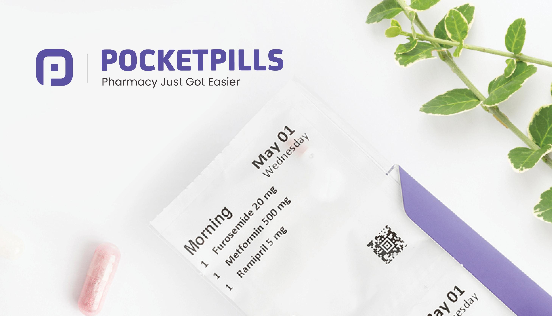Prescription box on a whitebackground   PocketPills   Benefits by Design