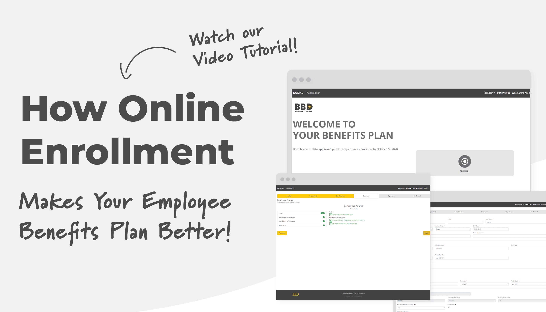 Screenshots of online enrollment tool   How Online Enrollment Makes Your Employee Benefits Plan Better
