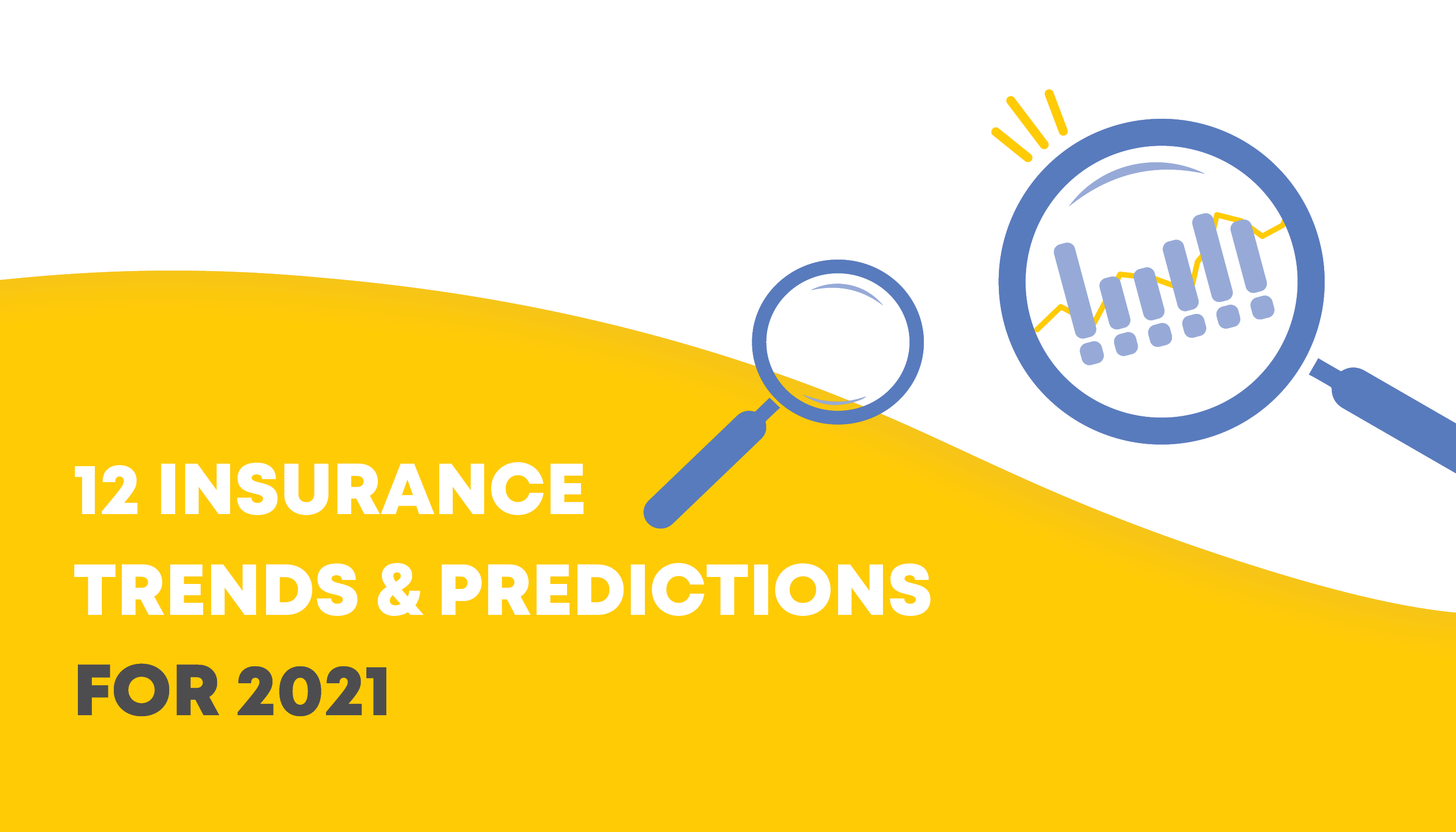 Vector images of magnifying glasses | 12 Insurance Trends and Predictions for 2021 | Benefits by Design