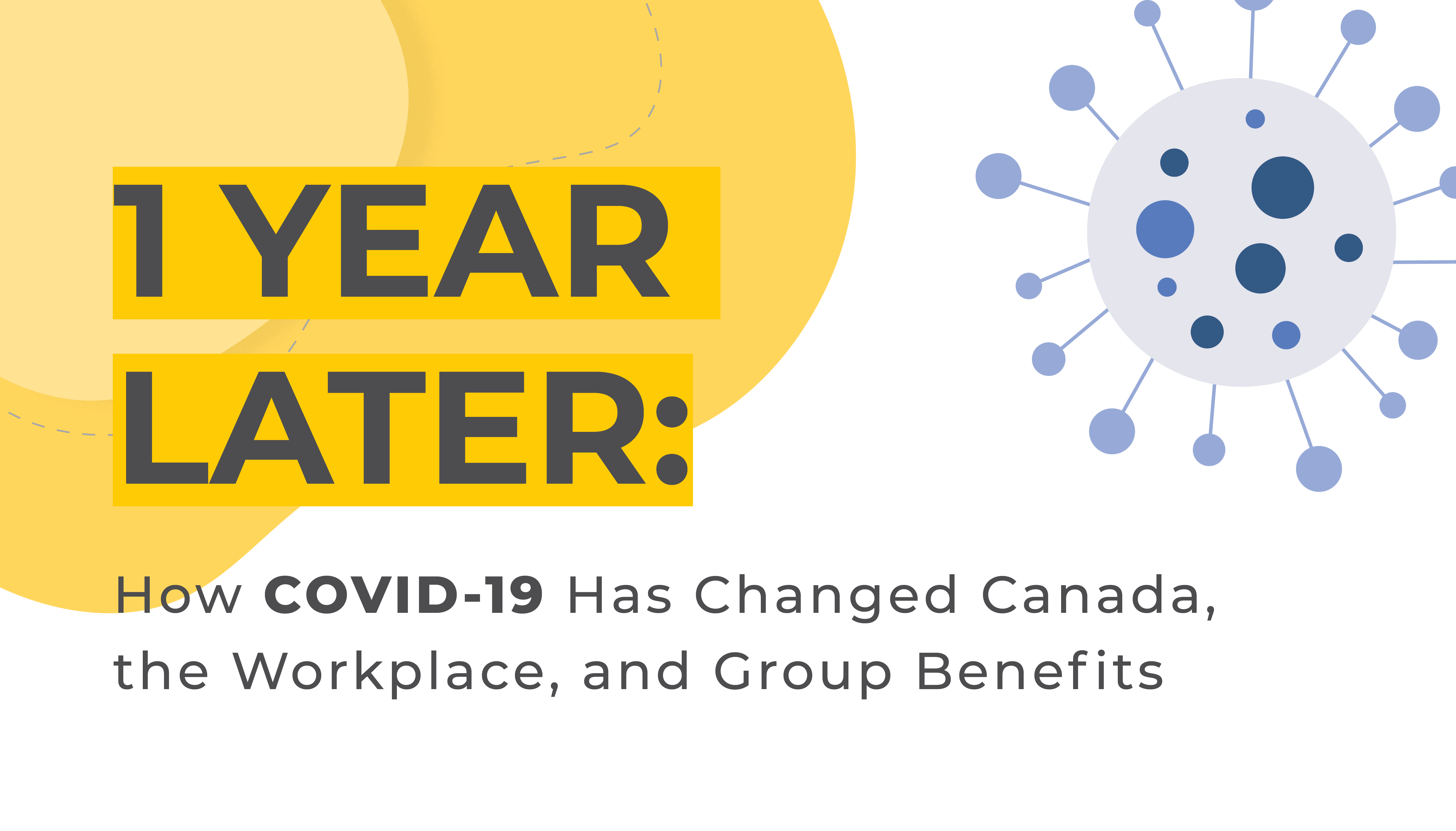 Vector Image of a Virus | 1 Year Later: How COVID-19 has Changed Canada, the Workplace, and Group Benefits | Benefits by Design
