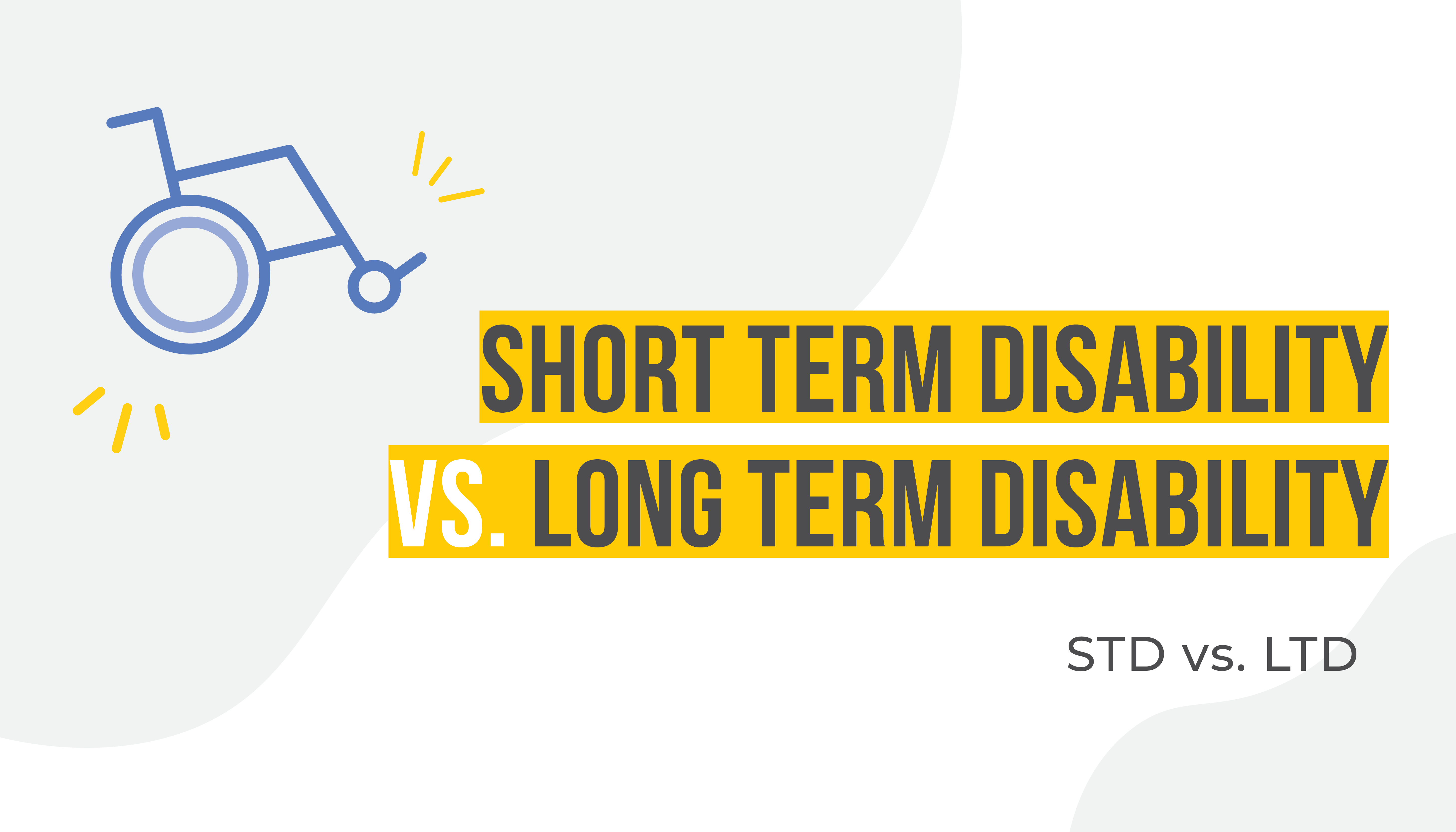 Vector Image of a Wheelchair | Short Term vs. Long Term Disability Insurance | Benefits by Design