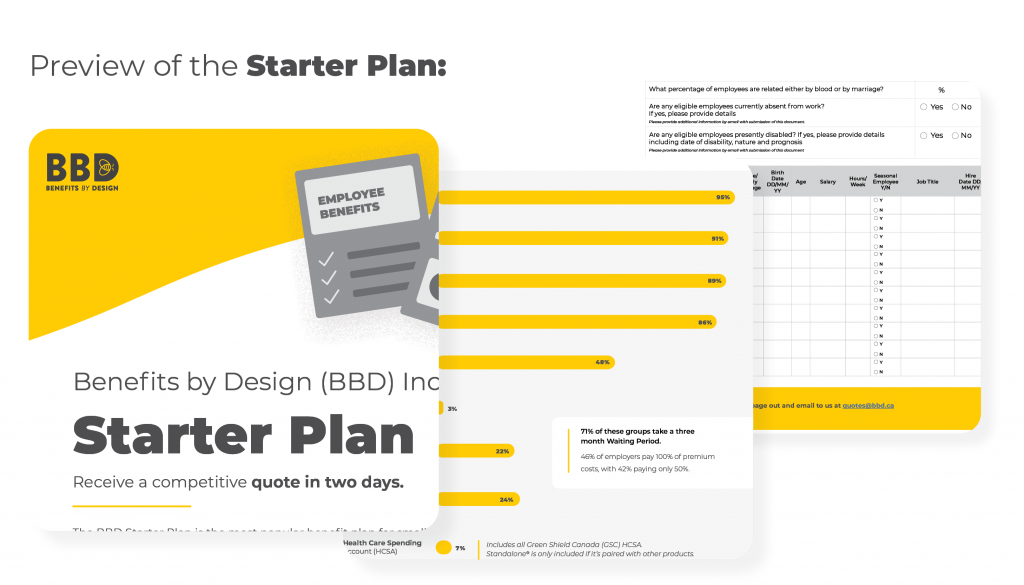 """""""Preview of the Starter Plan:"""" 